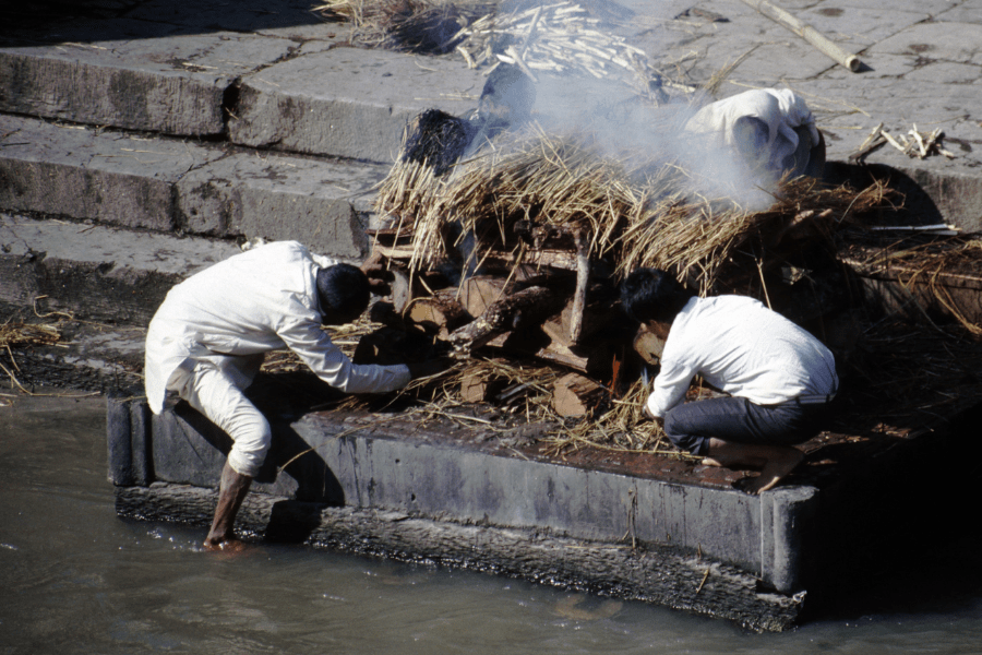 open air cremation - river Ganges