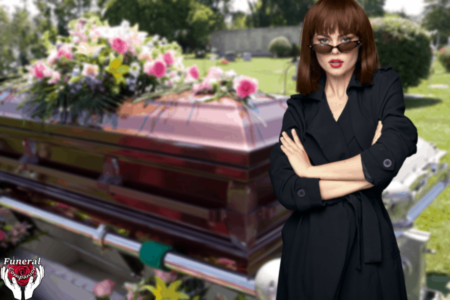 angry woman at funeral