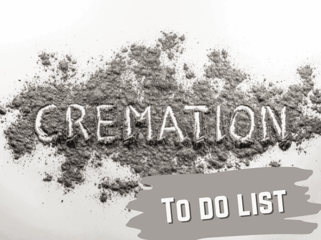 cremation to do list