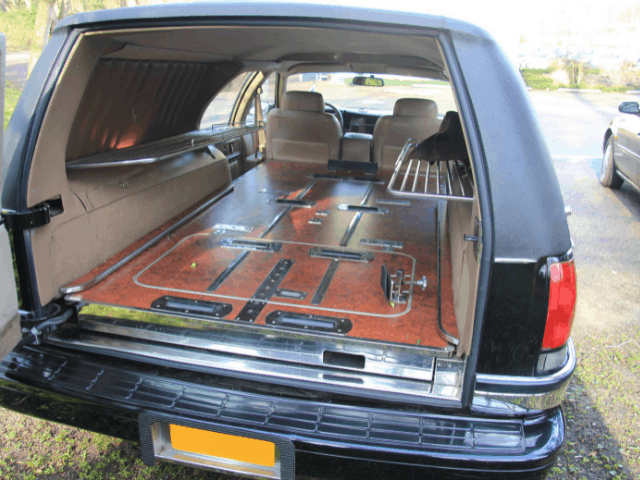 back of a hearse